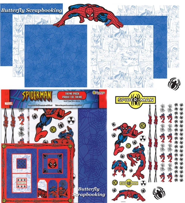 Spiderman Scrapbooking Kit by Sandylion