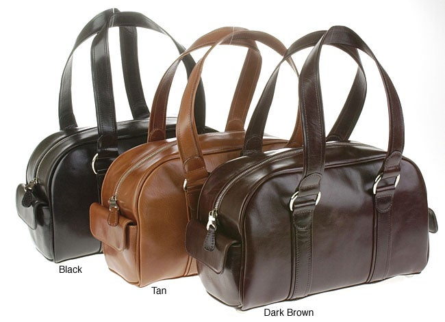 Mulholland Brothers Leather Bowling Bag