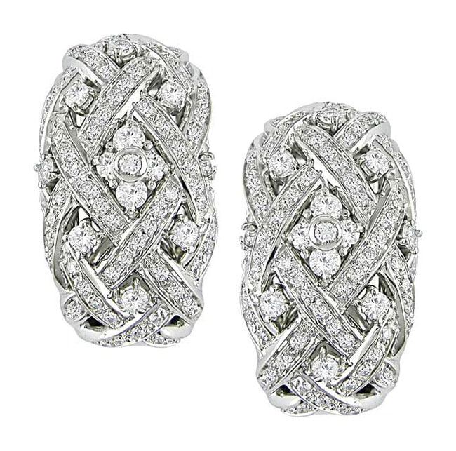 Miadora 18k White Gold 1 7/8ct TDW Diamond Earrings