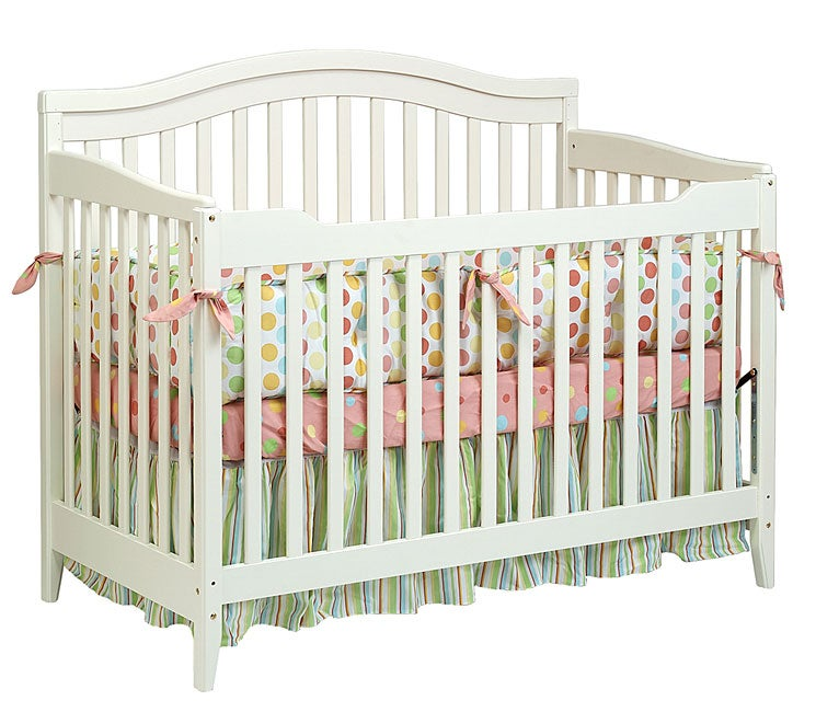 shop 4 in 1 antique white convertible crib free 87956