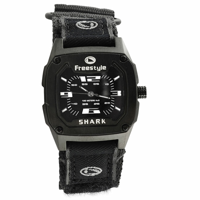 Shark 100 Meter : Freestyle metal shark meter sport band watch free
