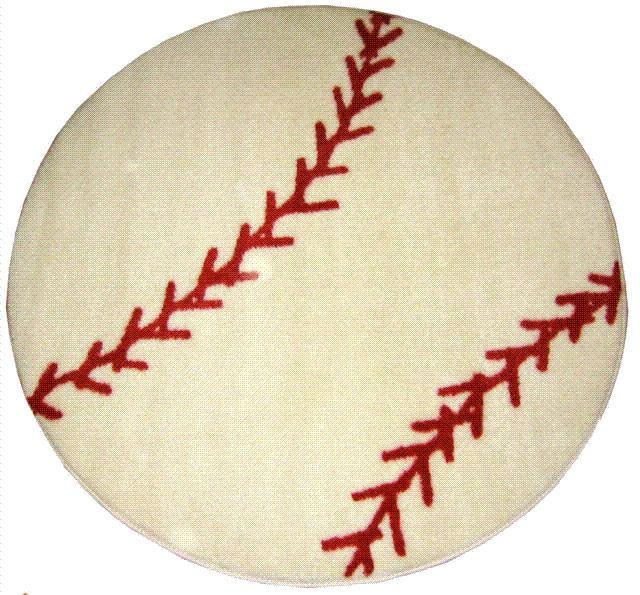 Baseball Rug (3'3 Round)