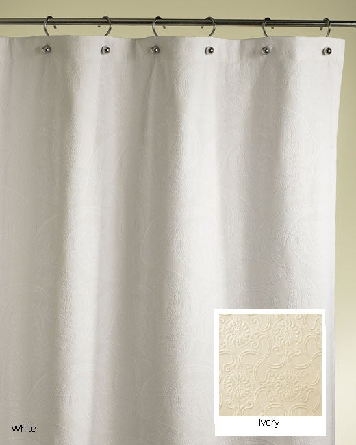 Shop Paisley Cotton Shower Curtain (Extra Long) - Free Shipping ...
