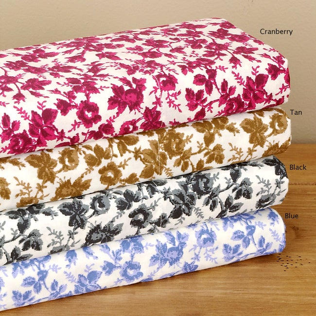 Floral 300 Thread Count Cotton Sateen Sheet Set