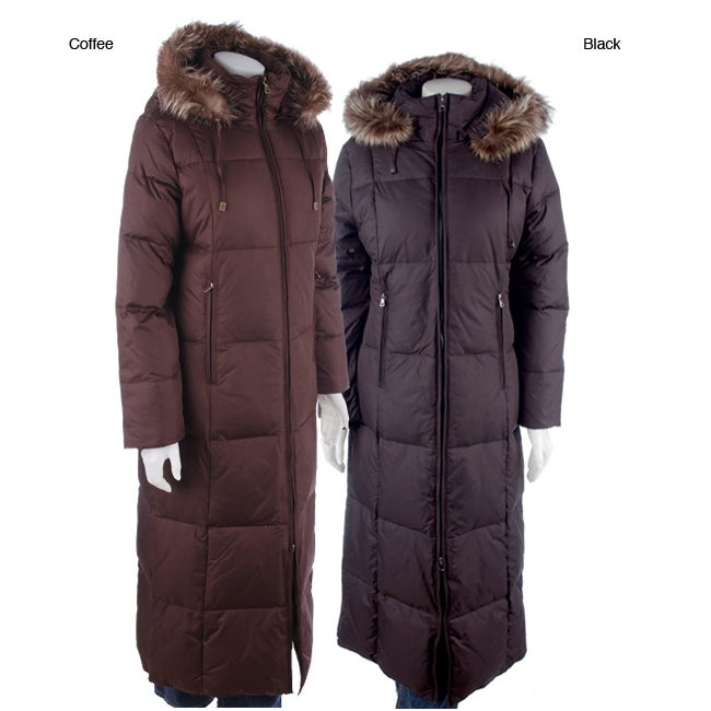London Fog Women S Long Down Coat With Fur Trim Free