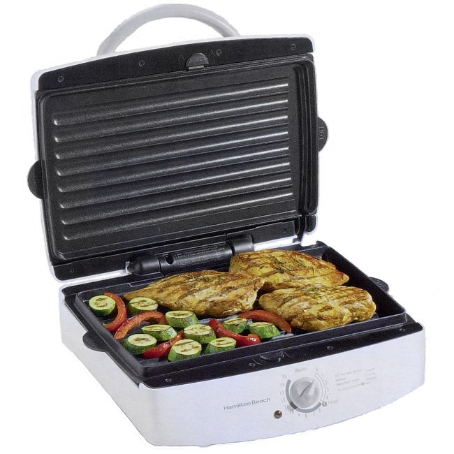 Shop Hamilton Beach Indoor Grill With Removable Grids
