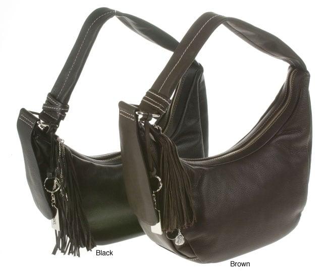 Luce Leather Hobo Handbag