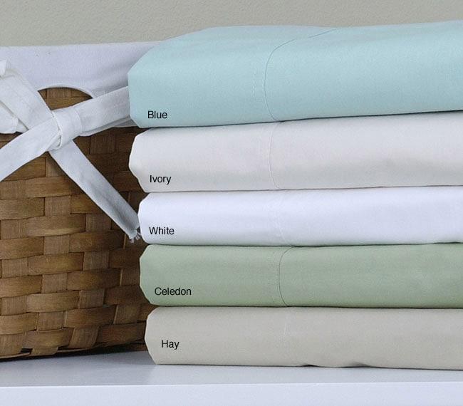 250 Thread Count Egyptian Cotton Percale Sheet Set
