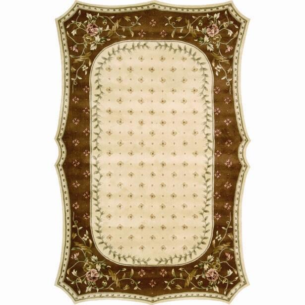 Nourison Hand-tufted Serenata Beige Wool Rug (5'3 x 8'3)
