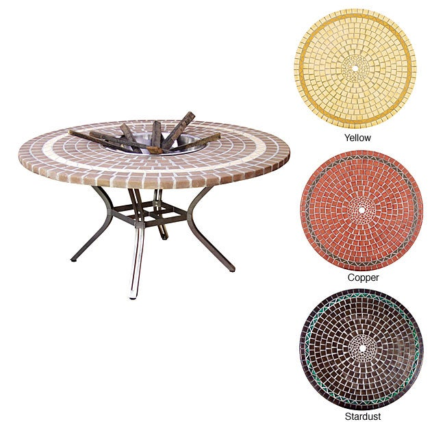 Shop Mosaic Fire Pit Table Free Shipping Today Overstock 2538285