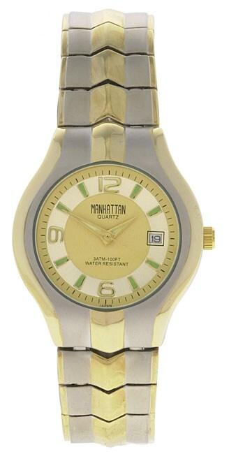 Shop Manhattan By Croton Men S Goldtone Quartz Watch Free Shipping