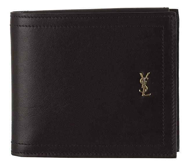 48b95a493841 Shop Yves Saint Laurent Men s Leather Bi-fold Wallet - Free Shipping Today  - Overstock - 2539882
