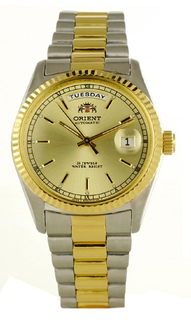 Orient Men's Automatic Rolex-style Gold Dial Watch