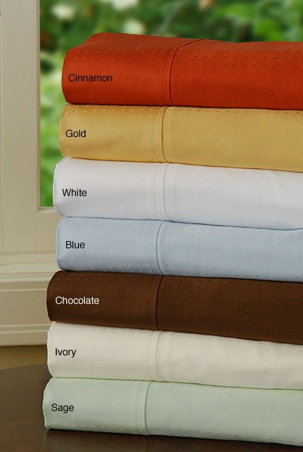 330 Thread Count Egyptian Cotton Swiss Dot Sheet Set