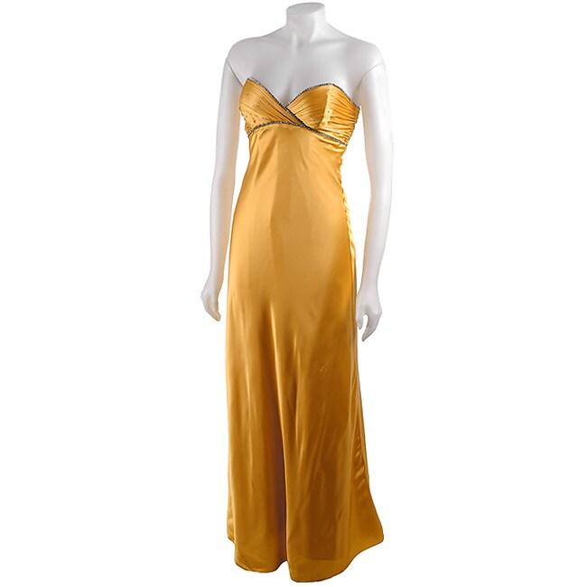 9617d76114 Betsey Johnson Yellow Silk Evening Gown