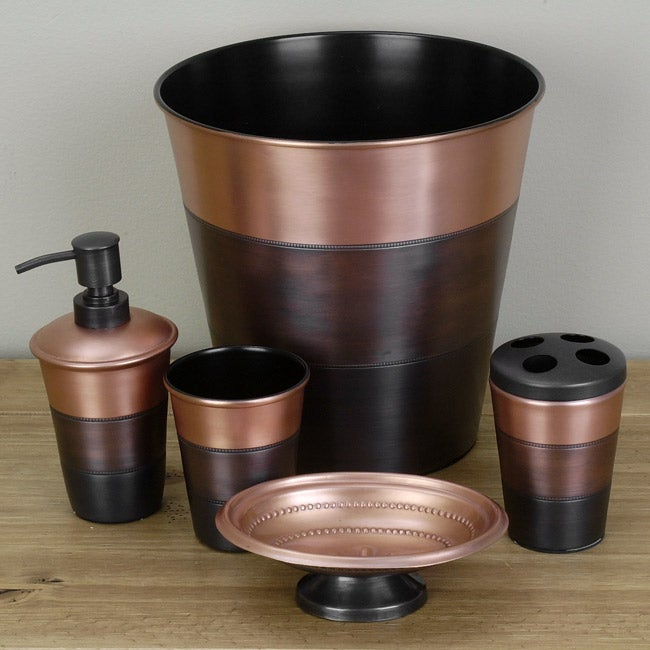 steeltex sequoia copper bath accessories set free