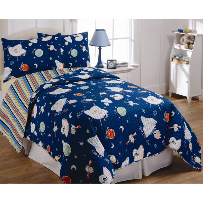 Outer space quilt set free shipping today overstock for Outer space quilt