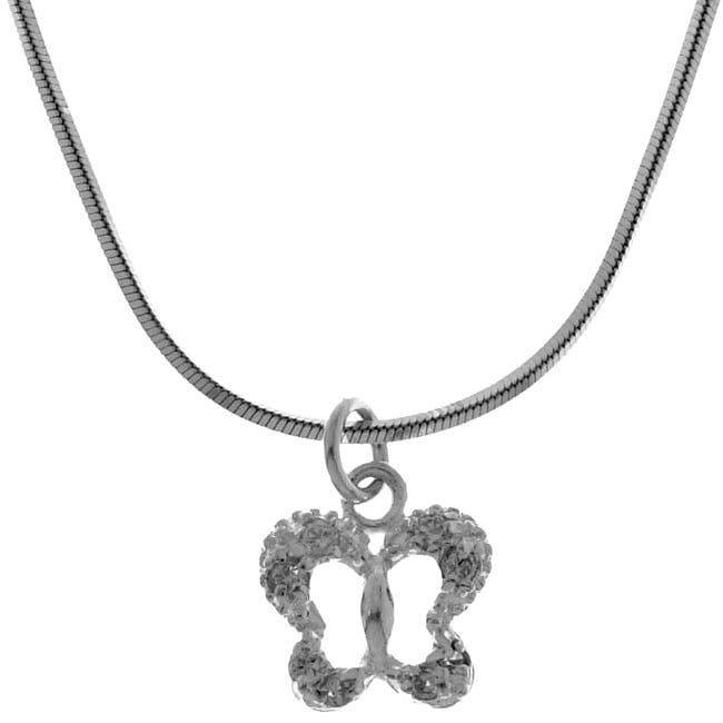 Sterling Essentials Sterling Silver Butterfly Necklace