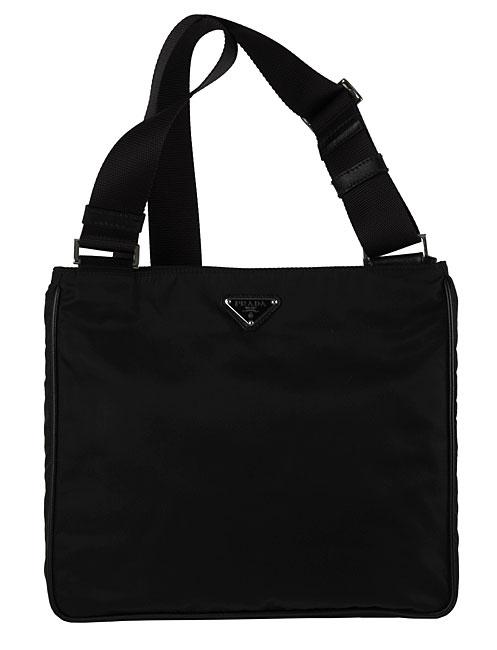 3d1f3bdc69b9 Shop Prada Black Nylon Flat Messenger Bag - Free Shipping Today - Overstock  - 2543554