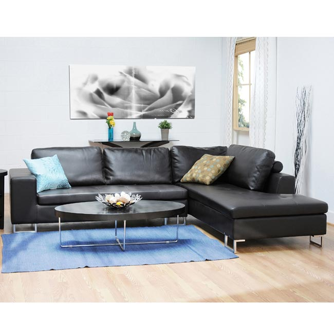 Thane Bi-cast Leather 2-piece Sectional Sofa