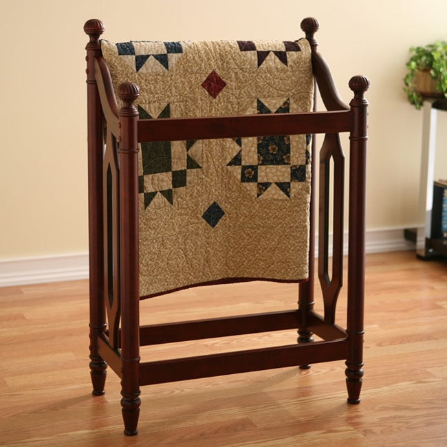 Classic Cherry Blanket Quilt Rack Free Shipping Today