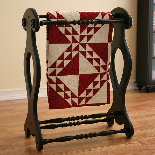 Antique Black Blanket/ Quilt Rack