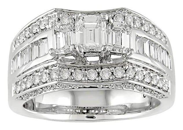 Miadora 14k White Gold 2ct TDW Diamond Engagement Ring - Thumbnail 0