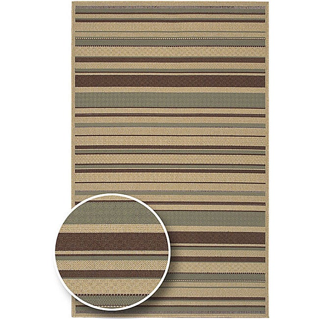 Cafe Series Stripe Indoor/Outdoor Rug (8'9 x 12'9)