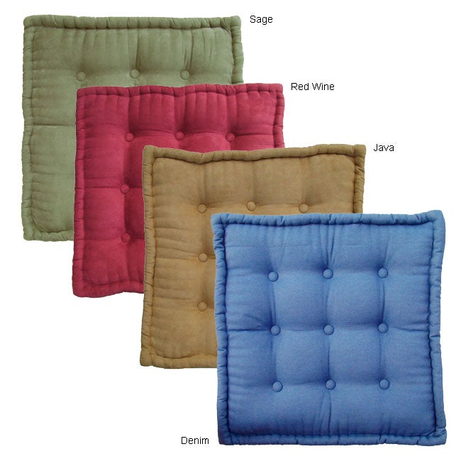 25-inch Floor Pillow with Button Tufts