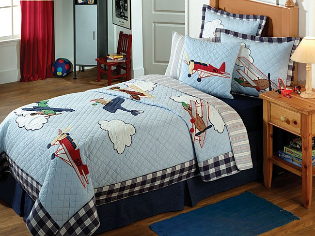 Vintage Planes Quilt Set Free Shipping Today Overstock