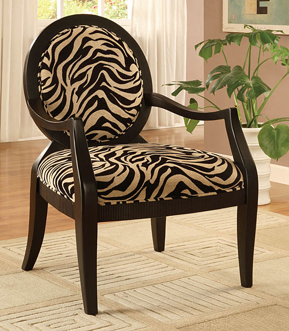 Zebra Print Oval Back Chair Free Shipping Today Overstock Com 10776800