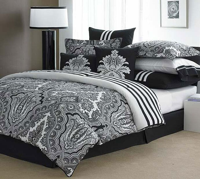 Echo Modern Paisley Luxury 4-piece Comforter Set