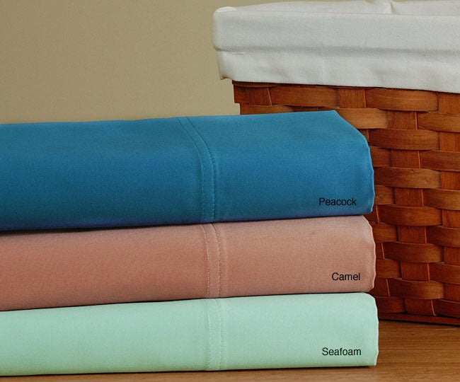 Sateen 1200 Thread Count Solid Sheet Set