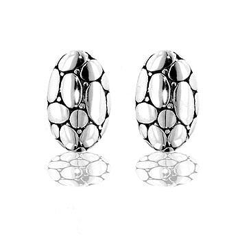 Kate Bissett Silvertone Bali-inspired Designer Earrings