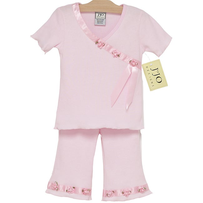 Sweet Jojo Designs 2-piece Satin Ribbon Baby Girl's Outfit