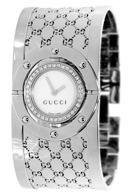 bf778e39093 Shop Gucci 112 Twirl Women s Diamond Dress Watch - Free Shipping Today -  Overstock - 2566263