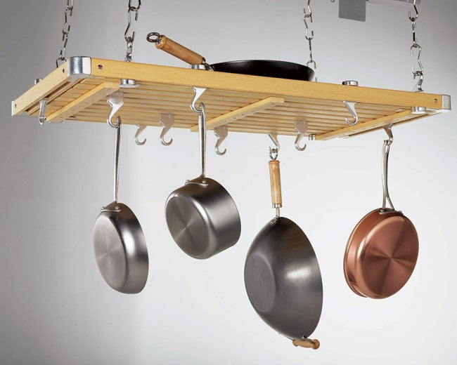 Concept Housewares Large Hanging Ceiling Pot Rack - Free ...