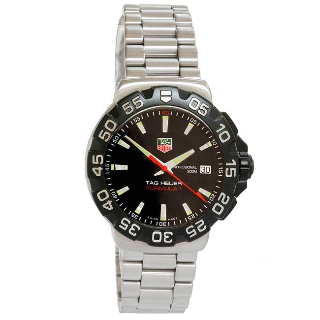 f79cfaece52 Shop Tag Heuer Formula 1 Men s Black Dial Watch - Free Shipping ...