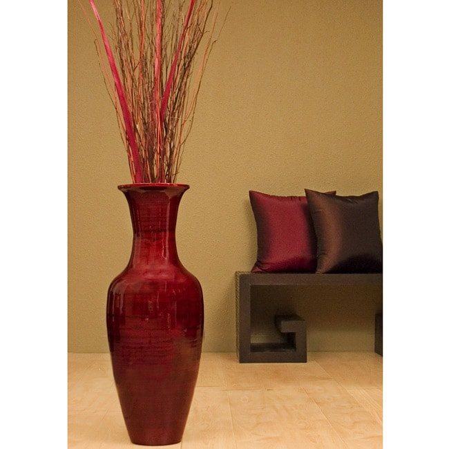 Shop 28 Inch Bamboo Floor Vase Floral Arrangement Free Shipping