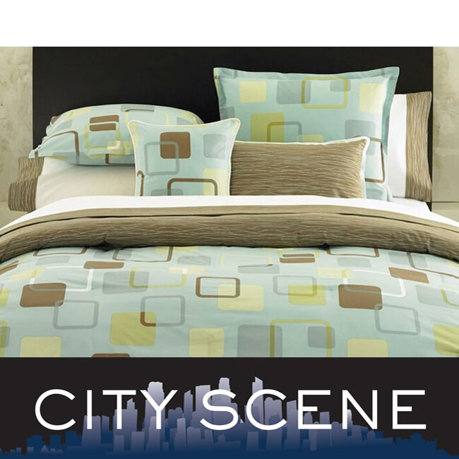 City Scene Shadow Play Teal Bed in a Bag