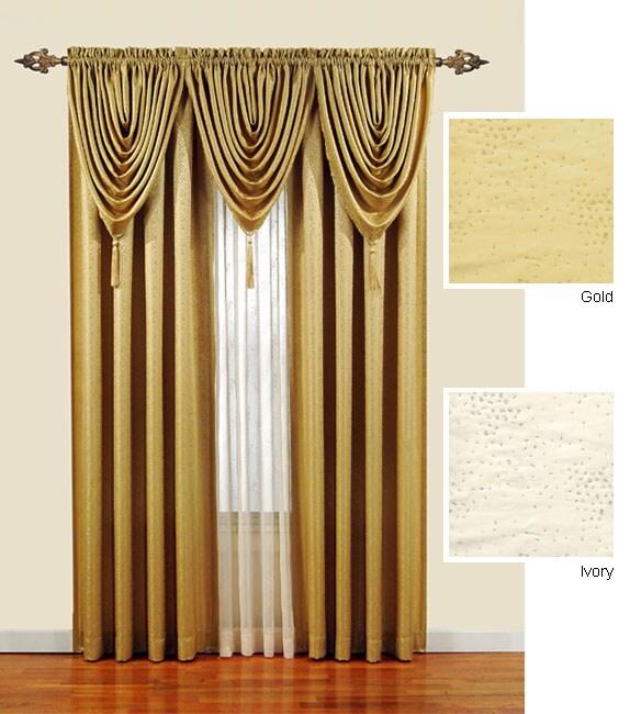 Monde Sheer 63-inch Tailored Window Curtain Panel