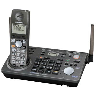 Panasonic KX-TG6700B 5.8GHz 2-line Cordless Phone (Refurbished)