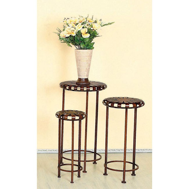 Iron Round Indoor Outdoor Plant Stand Free Shipping