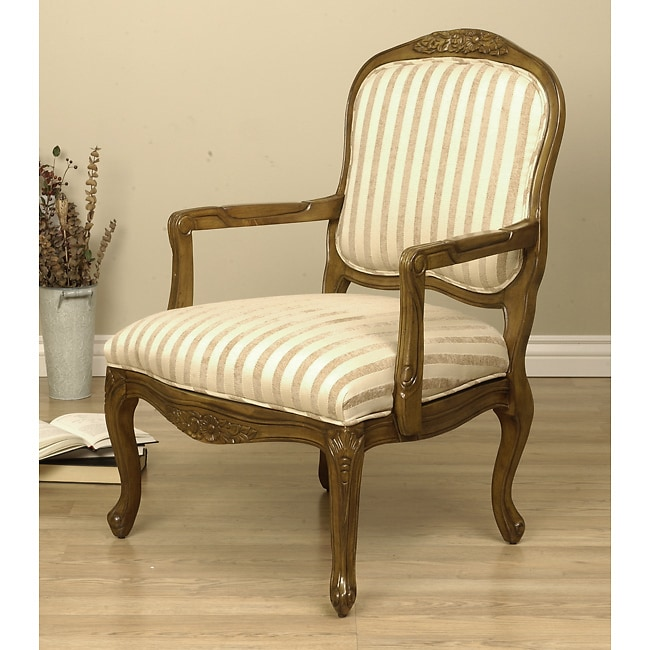 Taupe Stripe Accent Chair Free Shipping Today