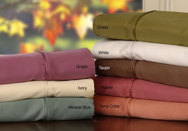 600 Thread Count Sateen Combed Cotton Sheet Set
