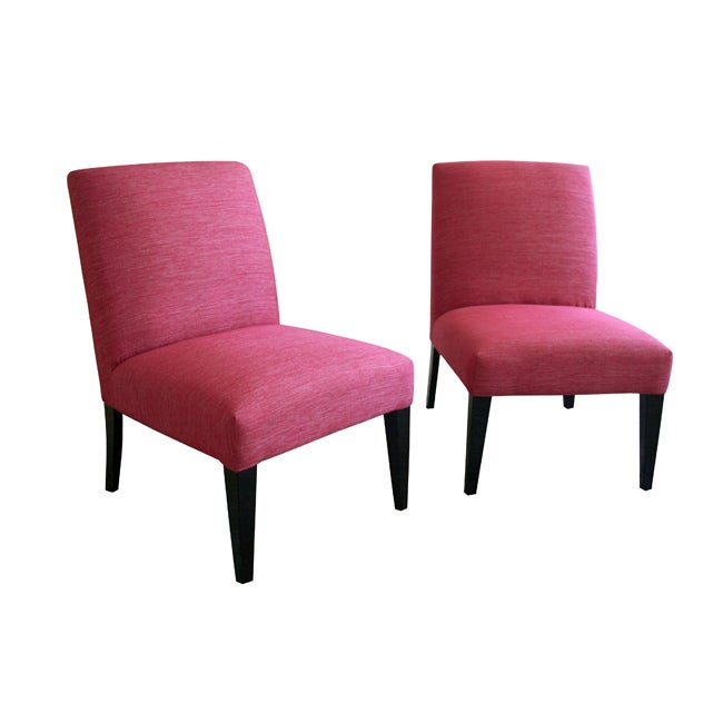 Sheadon Metallic Hot Pink Accent Chairs Set Of 2 Free