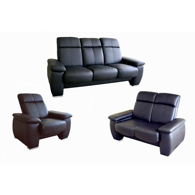 Merveilleux Cedric 3 Piece Leather Sofa/ Loveseat/ Chair Set