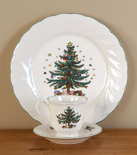 Nikko Happy Holidays 12-piece Dish Set : nikko christmastime dinnerware - pezcame.com