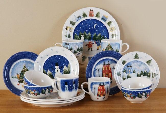 Nikko Winter Wonderland 16-piece Dish Set
