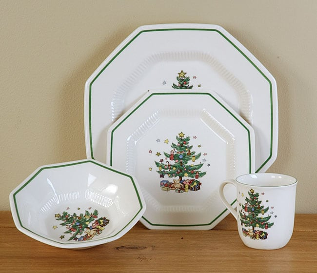 Shop Nikko Christmastime 16-piece Dish Set - Free Shipping Today ...